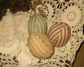 Primitive Eggs set of three