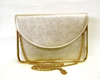 Vintage Purse Gold Evening Bag Original HL clutch mini briefcase Messenger Evening Bag
