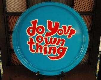 Vintage 70's pop Art Tin Tray