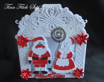 Mr & Mrs Claus Card, SVG,MTC,CRICUT,Cameo,ScanNCut