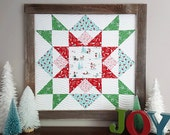 Joyful Barn Star quilt pattern - PDF - instant download