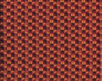 """1/2 Yard Very Nice Quality 100% Cotton Fabric Fall great for Browns ,Oranges 45"""" Wide"""