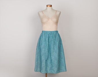 Vintage Robins Egg Blue Lace Skirt - 1950s Skirt - 50s Party Skirt - Plus Size XL / 1X