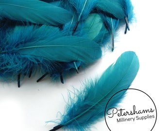 Loose Goose Nagorie Feathers for Millinery and Hat Trimming - Teal