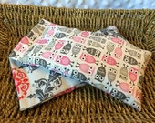 Set of 2 Lavender and Rice Eye Pillows - Lovely Coordinating Designs, Owls