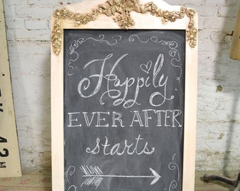 Painted Cottage Chic Shabby Large Two Sided Sandwich Chalkboard HD40