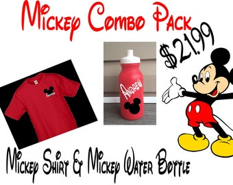 Minnie Combo Pack - Personalized Shirt & Water Bottle