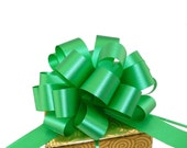 Emerald Green Pull Bows Christmas Gift Wrap Decorations - Set of 6