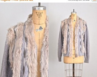 45% OFF SALE.... vintage 1980s angora sweater • gray sweater • gray cardigan  • vintage cardigan • medium large