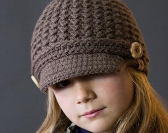 Crochet Hat PATTERN Brookside Newsboy Unisex Crochet Hat Pattern Includes 6 Sizes Newborn to Ladies and Men