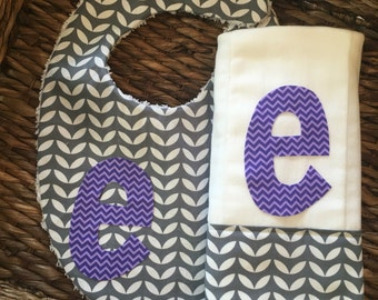 Baby Girl Burp Cloth, Burp Cloth, Personalized Burp, Purple Burp Cloth, Burping, Burp Rags, Burp Cloth Set, Baby Shower Gift