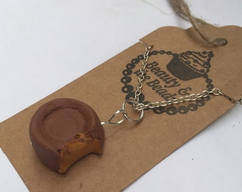 polymer clay miniature rolo necklace