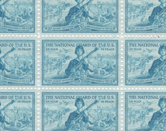 1953 - Sc. #1017 - National Guard US Postage Stamp Sheet