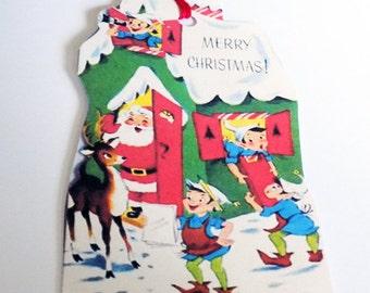 Santa Elves Tags - Santa's Workshop - Christmas Gift Tags - Green Workshop - Xmas Elves - Merry Christmas - North Pole Tags - Holiday Tags