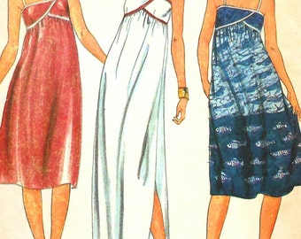 Sundress Sewing Pattern Butterick 3779 Size 8