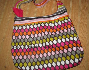 Crossbody Purse, Crossbody Bag, Crossbody Bag, Hip Purse, Adjustable Strap, Large Purse, Multi-Color, Washable, Ready to Ship, Shoulder Bag