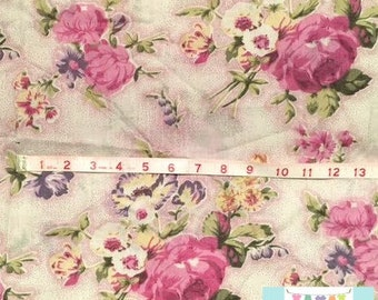 Vintage Magenta Roses Shabby Chic Pillowcase