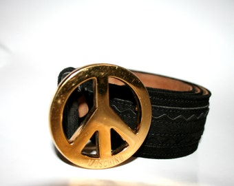 Vintage Moschino Peace Belt Size Small