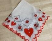 Valentine red heart Handkerchief
