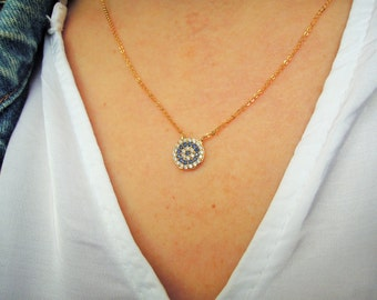 evil eye jewelry - Turkish Evil eye necklace - protection necklace - kaballah jewelry - mothers day  from husband- mothers day from daughter