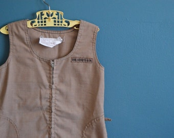 Vintage 1970s Girl Scouts / Brownie Jumper - Size 6