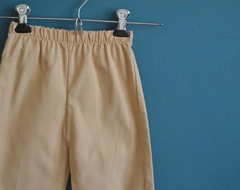 Vintage Children's Beige Corduroy Pants - Size 3T