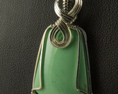 RESERVED for loveabomination – Variscite Pendant in Silver