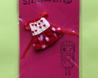 Petite Blythe Ruffle Halter Dress -- tulips and hearts
