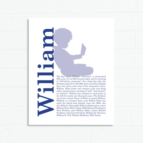 Name Meaning Silhouette Custom Print