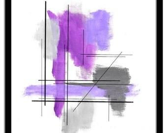 Original Geometric Painting Abstract Bauhaus Lissitzky Minimalist Art Canvas Board Acrylics Ink  8 x 10 Len Dickson