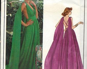 """UNCUT Vogue Paris Original Pattern No. 1135 by Emanuel Ungaro - Fabulous Evening Gown with Criss Cross Back Straps  Bust 31 1/2"""""""