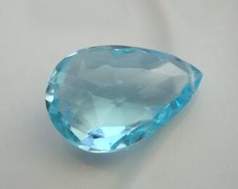 Huge AAA Natural Sky Blue Topaz Pendant Size Pear Briolettes 17 MM  Focal