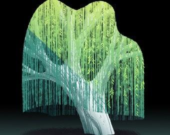 Tree Series: Willow Tree - Print
