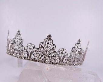 Naked Silver Metal Filigree Phoenix Fantasy Renaissance Game of Thrones Tudor Medieval Tiara Crown