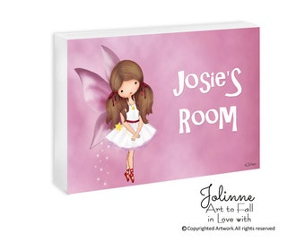 Girl bedroom sign personalized, fairy door sign, angel nursery name sign, custom name sign, Baby Name Sign Personalized Nursery ,kids room