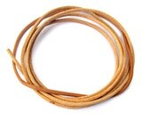 Greek leather cord, quality leather cord, round 1.8mm natural leather cord, 1m / 1.09 yard