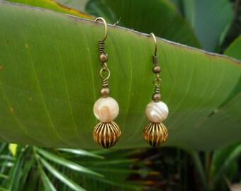 Handmade Marble Beaded Elegant Earring - Ready to ship