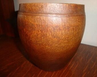 Lovely Hand Turned wood vessel vase