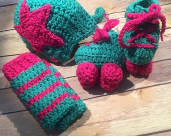 Roller Derby Baby Booties Roller Skates, Jammer Hat and Legwarmers
