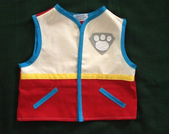 Paw Patrol Ryder twill vest for birthdays, Halloween, daily wear