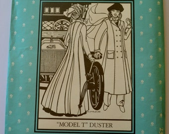 "Folkwear 230 Misses ""Model T"" Duster Coat Size 8-16 UNCUT"