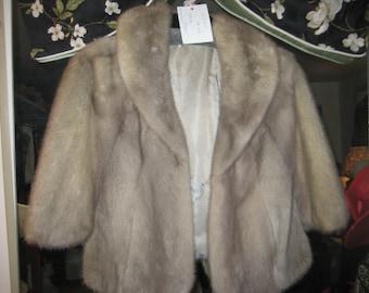 Fabulous 50's Silver Mink Stole/Jacket