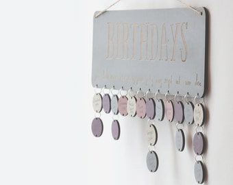 Gentle Grey Birthday Board ~ Family & Friends or Birthday