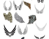 17-Wings -Digital Immediate Download-Clipart-Digital-Party