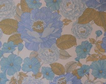 midsummer...1970s vintage vinyl coated wallpaper last metre