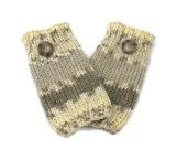 Knit Fingerless Gloves, Hand Warmers, Driving Gloves, Fiber Art, Gift For Her, Taupe Gloves, Christmas Gift,  Brown Gloves, Texting Gloves,