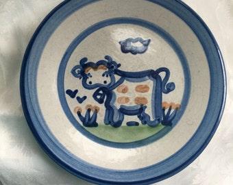 "HADLEY COW PLATE 7  5/8"""