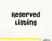 Custom Listing for Paula Newstat