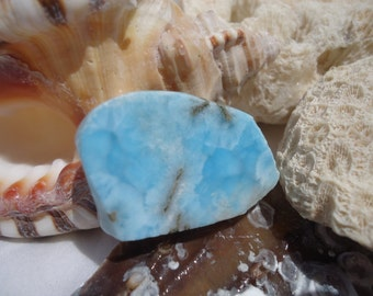 Larimar Slab #44 - Soul Mate - Twin Flame - Atlantis Stone