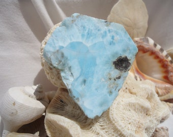 Larimar Slab #105 - Twin Flame - Soul Mate - Atlantis Stone